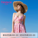 Split swimsuit Fandecie  Pink LPK M L Skirt split swimsuit With chest pad without steel support Summer of 2018 yes Sleeveless