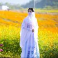 National costume / stage costume Summer 2016 Light blue, no flowers, sky blue. S M L XL XXL XXXL
