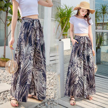 Casual pants A107 color nine, A107 color long S,M,L,XL,XXL,XXXL Summer 2021 trousers Wide leg pants High waist commute Thin money 25-29 years old 96% and above EDYSA107 Ocnltiy Korean version pocket