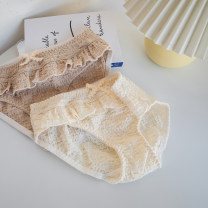 underpants female White, coffee M,L,XL Other / other 1 cotton Briefs middle-waisted Sweet Solid color youth 81% (inclusive) - 95% (inclusive) Cotton fabric bow js1313