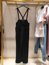 Casual pants Black, gray (check) 1 / XS (26), 2 / S (27), 3 / M (28), 4 / L (29), 5 / XL (30) Spring 2021 trousers Straight pants High waist Versatile routine 96% and above O'amash banner other