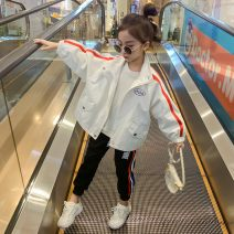 Plain coat Other / other female 110cm,120cm,130cm,140cm,150cm,160cm spring and autumn leisure time Zipper shirt There are models in the real shooting routine nothing blending Class B