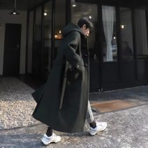 woolen coat Black Hooded Coat, dark green Hooded Coat, the second batch of black Hooded Coat S,M,L,XL,2XL Others Youth fashion have more cash than can be accounted for Other leisure easy teenagers Hood double-breasted Exquisite Korean style winter
