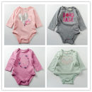 Jumpsuit / climbing suit / Khaki Other / other other female Greyish green purple Grey Pink newborn 0-3M 3-6M 6-9M cotton No season Long sleeves Long climb No model dj2018012314 Thirty