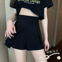 skirt Winter 2016 S, M Trouser skirt Short skirt street High waist Irregular Solid color Type A 18-24 years old 8378# 71% (inclusive) - 80% (inclusive) Other / other cotton Hip hop
