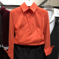 shirt Rose, orange 2 s, 3 m, 4 L, 5 XL, 6 XXL Spring 2021 cotton 91% (inclusive) - 95% (inclusive) Long sleeves Versatile Regular Polo collar other routine Solid color 25-29 years old Self cultivation O'amash banner Splicing