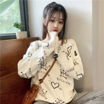 Sweater / sweater Autumn 2020 White, yellow, black, pink M. L, XL, XXS pre-sale Long sleeves routine Socket singleton  routine Crew neck easy commute routine letter 51% (inclusive) - 70% (inclusive) Korean version printing