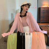 Wool knitwear Summer 2020 One size fits all, XXS pre-sale Long sleeves singleton  Cardigan other 30% and below Regular Thin money commute easy Hood routine Solid color zipper Korean version 18-24 years old zipper