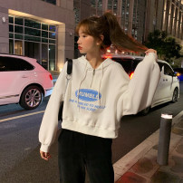 Sweater / sweater Autumn 2020 Gray, white, blue One size fits all, XXS pre-sale Long sleeves have cash less than that is registered in the accounts Socket singleton  routine Hood easy commute routine letter 51% (inclusive) - 70% (inclusive) Korean version printing