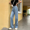 Jeans Summer of 2019 blue S,M,L trousers High waist Straight pants routine 18-24 years old Old, washed Other / other 81% (inclusive) - 90% (inclusive)