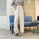 Casual pants Khaki, black, apricot white One size fits all, XXS pre-sale Autumn 2020 trousers Wide leg pants High waist commute routine 18-24 years old 51% (inclusive) - 70% (inclusive) polyester fiber Korean version pocket polyester fiber