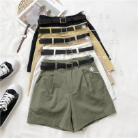 Casual pants Khaki, white, green, yellow, black S,M,L Summer 2020 shorts Wide leg pants High waist commute routine Korean version