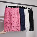 skirt Spring 2021 S,M,L,XL,2XL,3XL,4XL Middle-skirt Versatile Natural waist skirt Decor Type H 18-24 years old Lace Xiao Jingyi Chang