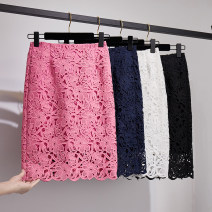 skirt Spring 2021 S,M,L,XL,2XL,3XL,4XL Middle-skirt Versatile Natural waist skirt Decor Type H 18-24 years old Lace Xiao Jingyi Chang