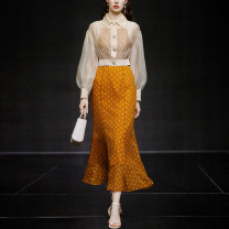 Fashion suit Spring 2021 S,M,L,XL Apricot + orange (5-7 days delivery), apricot + orange (in stock) 25-35 years old Duffy fashion M22029 96% and above polyester fiber