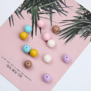 Other DIY accessories Other accessories Acrylic 0.01-0.99 yuan One is milky brown, one is ginger, one is milky white, one is cherry pink, one is lake blue, one is light purple, one is about 14mm in diameter and 2mm in aperture brand new others