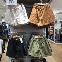 Casual pants Black, light beige, turquoise, beige, olive green, bright orange S,M,L,XL Spring 2021 shorts High waist Versatile routine 91% (inclusive) - 95% (inclusive) hemp