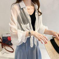 T-shirt White, pink, blue M [80-100 Jin], l [100-115 Jin], XL [115-130 Jin], 2XL [130-150 Jin], 3XL [150-170 Jin], 4XL [170-200 Jin] Autumn 2020 Long sleeves Polo collar easy Medium length shirt sleeve commute other 71% (inclusive) - 85% (inclusive) 25-29 years old Korean version originality