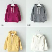 Sweater / sweater Other / other neutral 80cm,90cm,100cm,110cm,120cm,130cm,140cm,150cm,160cm,170cm,180cm spring and autumn No detachable cap Socket Plush There are models in the real shooting Solid color