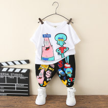 suit Other / other Black, blue 90cm,100cm,110cm,120cm,130cm,140cm,150cm male spring and autumn leisure time Short sleeve + pants 2 pieces routine No model Socket No detachable cap Cartoon animation other children Expression of love Cat and mouse suit Class B Cotton 95% other 5% Chinese Mainland