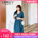 Women's large Summer 2021 blue Large L Large XL Large XXL large XXL large XXL large XXXL Dress singleton  commute Self cultivation moderate Conjoined Short sleeve Check solid Korean version V-neck polyester Three dimensional cutting bishop sleeve S2032 Lrosey / blue water 25-29 years old zipper