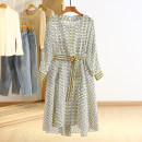 Dress Spring 2021 Decor S,M,L,XL,2XL Middle-skirt singleton  Long sleeves Crew neck Socket Type A Other / other RKR15L002 More than 95% polyester fiber