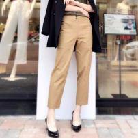 Casual pants Khaki, black 2 = 27 [2 feet], 3 = 28 [2 feet 1], 4 = 29 [2 feet 2], 5 = 30 [2 feet 3], 1 = 26 [1 feet 9], 6 = 31 [2 feet 4-2 feet 5] Spring 2021 Ninth pants Straight pants High waist Versatile routine 91% (inclusive) - 95% (inclusive) O'amash banner cotton pocket cotton