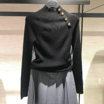 sweater Autumn 2020 3 = m, 4 = L, 5 = XL, 2 = s, 6 = XXL Dark grey, army green, black, khaki Socket wool 95% and above Regular commute routine Solid color Self cultivation Keep warm and warm Pinge Dixin Stitching, thread, button wool