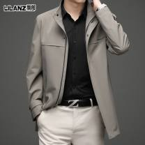 Jacket Lilanz / LiLang Business gentleman Black, blue, gray, beige, khaki, stand collar black, stand collar blue, stand collar khaki, stand collar dark grey 165 / 84A, 170 / 88a, 175 / 92a, 180 / 96a, 185 / 100A, 190 / 104a, 195, free return and replacement of free freight insurance thin Travel? 2021