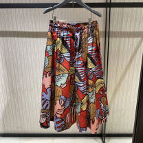 skirt Winter 2020 1 / XS, 2 / s, 3 / m, 4 / L, 5 / XL Decor longuette commute Natural waist A-line skirt Decor Type A 25-29 years old 91% (inclusive) - 95% (inclusive) O'amash banner cotton printing