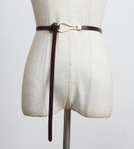 Belt / belt / chain Double skin leather