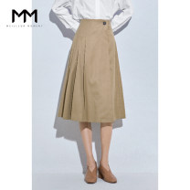 skirt Spring 2020 XS S M L XL khaki Short skirt commute High waist A-line skirt Solid color Type H 25-29 years old 5B1240201Q 71% (inclusive) - 80% (inclusive) Wheat lemon polyester fiber lady Polyester 72.8% wool 27.2% Same model in shopping mall (sold online and offline)