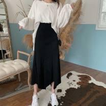 skirt Winter 2016 S,M,L,XL,2XL White jacket, single grey skirt, single black skirt, white jacket + grey skirt, white jacket + black skirt street 18-24 years old 30% and below