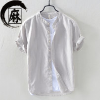 shirt Youth fashion Others M. L, XL, XXL, XXL 740 gray, 740 white, 740 khaki, 740 sky blue, 740 treasure blue, 3321 white, 3321 gray, 3321 gray green, 3321 sky blue, 3321 khaki, 3321 yellow, pure cotton white vest routine stand collar Short sleeve Super slim Other leisure summer youth Youthful vigor