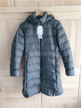 Down Jackets Winter of 2018 UNIQLO / UNIQLO Olive S,M,L,XL Grey duck down 90% Medium length Long sleeves thickening zipper Hood commute routine Straight cylinder Solid color 100g (including) - 150g (excluding) 96% and above nylon