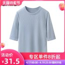 T-shirt D8436 pink blue d8436 white d8436 black d8319 white S M L XL XXL Spring of 2019 elbow sleeve Crew neck Self cultivation Regular routine commute polyester fiber 51% (inclusive) - 70% (inclusive) 18-24 years old Korean version classic Vertical stripe solid Amy's love D8319 Threaded half sleeve