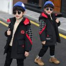 Cotton padded jacket male No detachable cap Cotton 81% - 90% Other / other Spiderman cotton padded clothes black, Spiderman cotton padded clothes red 120 for height 110cm, 130 for height 120cm, 140 for height 130cm, 150 for height 140cm, 160 for height 150cm, 170 for height 160cm thickening other