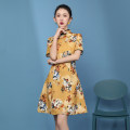 cheongsam Summer 2021 S,M,L,XL Picture color Short sleeve Short cheongsam Retro No slits daily Oblique lapel scenery 18-25 years old Piping A146#
