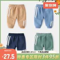trousers Yiqi baby neutral 66cm,73cm,80cm,90cm,100cm Green, blue, light gray, khaki, navy spring and autumn trousers motion No model Leggings Leather belt middle-waisted cotton Open crotch Cotton 100% B93G11KZ009 Class A 3 months, 12 months, 6 months, 9 months, 18 months, 2 years old