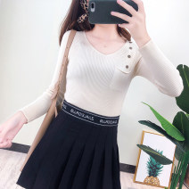 Wool knitwear Winter of 2019 One size fits all Apricot, white, green, blue, yellow, black, orange, pink, pink Long sleeves singleton  Socket other 31% (inclusive) - 50% (inclusive) Super short routine commute Self cultivation routine Solid color Retro 2193 spot 18-24 years old Other / other