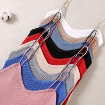 Vest sling Spring of 2019 Average size singleton  routine Self cultivation Sweet camisole Solid color 31% (inclusive) - 50% (inclusive) Cotton ammonia 235#
