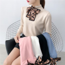 Wool knitwear Autumn of 2019 Average size Apricot, white, blue, black, pink Long sleeves singleton  Socket other 31% (inclusive) - 50% (inclusive) Super short routine commute Self cultivation Half height crew neck routine Solid color Socket Korean version 887# Other / other
