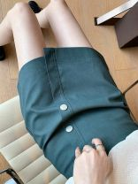 skirt Autumn 2020 S,M,L,XL Apricot, black, Morandi Short skirt commute High waist A-line skirt Solid color Type A 18-24 years old KZF1487 More than 95% Other / other other zipper Korean version