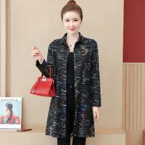 short coat Autumn of 2019 L,XL,2XL,3XL,4XL,5XL black Long sleeves Medium length routine singleton  easy commute Single breasted