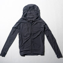 Windbreaker Black, grey Youth fashion M,L,XL,2XL,3XL zipper routine Self cultivation Other leisure Four seasons youth Hood (not detachable) Youthful vigor Solid color No iron treatment Brocade polyester polyester fiber More than 95%