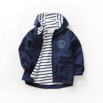 Windbreaker Other / other male spring and autumn Europe and America No detachable cap Zipper shirt Polyester 100%