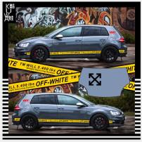 Car decoration stickers Stickers Body stickers Jinggushi Cover stickers, the whole car (Cover + both sides), as long as the side skirt two yellow
