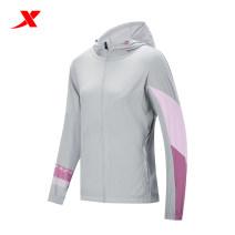 Sports jacket / jacket XTEP / Tebu female XS (adult), s (adult), m (adult), l (adult), XL (adult), 2XL, 3XL White, pink, light grey Autumn 2020 Hood