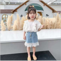 skirt 100cm,110cm,120cm,130cm,140cm blue Other / other female Other 100% spring and autumn Korean version Solid color Strapless skirt other X55061 other