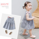 Dress Blue, Micah female Tong Yi Shi Jie 80cm,90cm,100cm,110cm,120cm Cotton 50% polyester 50% 12 months, 2 years, 3 years, 4 years, 5 years